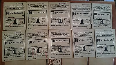 National Coal Board Ncb Wagon Labels X 95 - A Winning Colliery - P/s Eastcroft