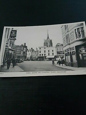 tindal square Chelmsford white hart tuck card  real photograph unused