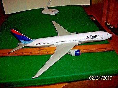 Delta Airlines Boeing 777-200 Desk Model on Stand parts are repair