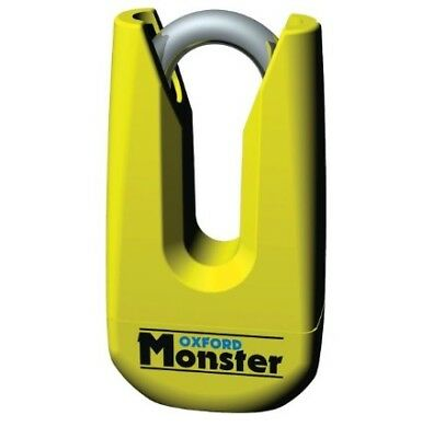 Oxford Monster Yellow Disc Lock Of36M Ultra Strong Motorcycle  Padlock New