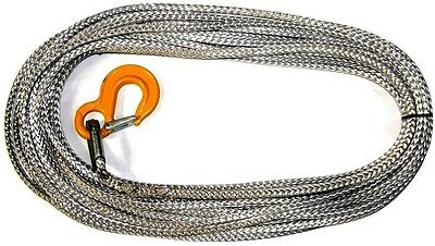 Genuine Dyneema SK75 Synthetic winch rope complete with hook and thimble