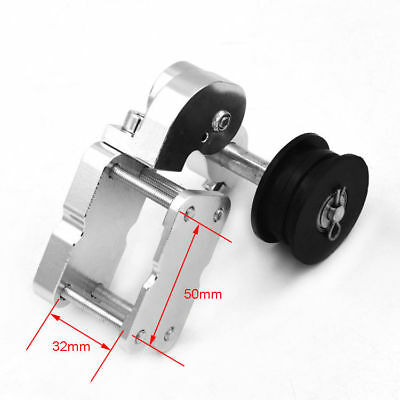 CNC Motorcycle Chain Tensioner Bolt On Roller For Supermoto Racing Bike Silver