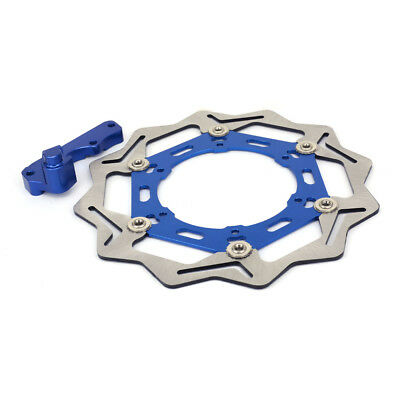 Blue 270MM Front Floating Brake Disc Bracket For Yamaha WR125 WR250 YZ250 WR400F