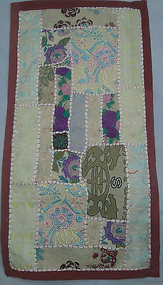 Indian Vintage Throw Patchwork Wall Hanging Embroidery Tapestry Table Runner