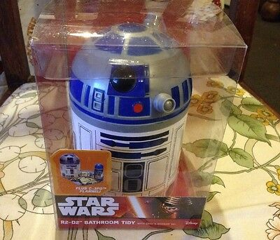 Star Wars R2 D2 Bathroom Tidy + Bath And Shower Gel, Etc. Brand-new, Unopened