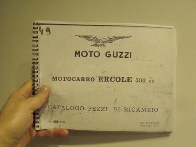 Moto Guzzi Ercole motocarro catalog parts book vintage motorcycle car microcar