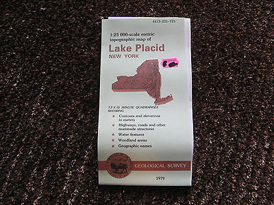 US Geological Survey topographic map metric New York USGS 1979 LAKE PLACID