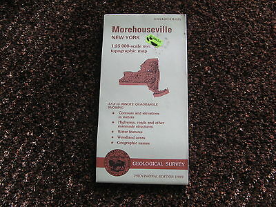 US Geological Survey topographic map metric New York USGS 1989 MOREHOUSEVILLE