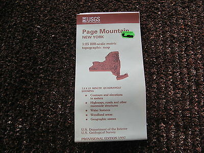 US Geological Survey topographic map metric New York USGS 1997 PAGE MOUNTAIN