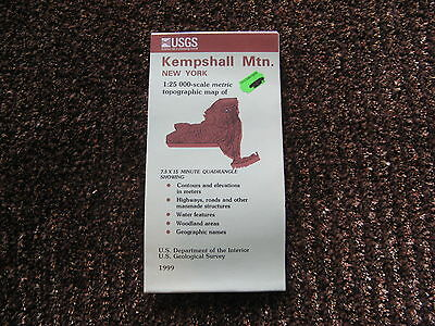 US Geological Survey topographic map metric New York USGS 1999 KEMPSHALL MOUNT