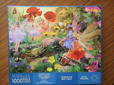 "jigsaw fantasy puzzle, Fairies titled ""Fairies and the Frog Prince"""