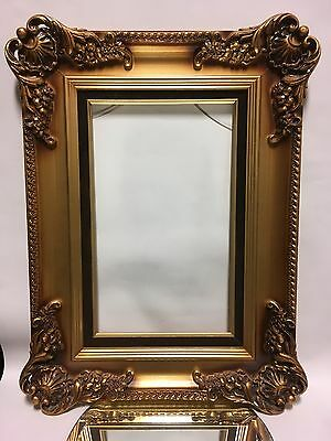 Vintage Mid-Century Victorian Gold Wood&Composition Picture Frame 11 x 18