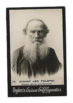 Ogdens - Guinea Gold - Card #76 - Count Leo Tolstoi - Very Good