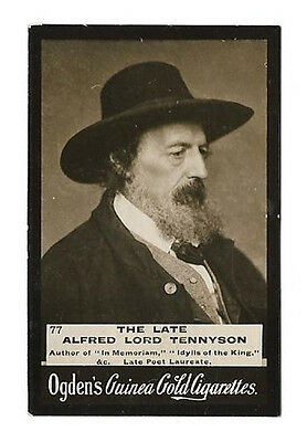 Ogdens - Guinea Gold - Card #77 - The Late Alfred Lord Tennyson - Very Good