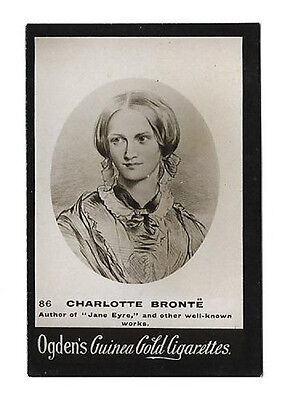 Ogdens - Guinea Gold - Card #86 - Charlotte Bronte - Very Good