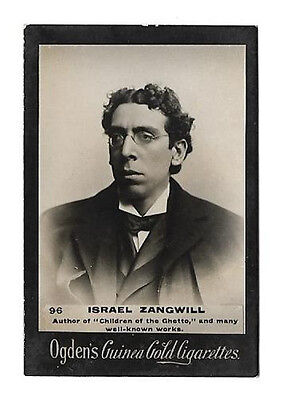 Ogdens - Guinea Gold - Card #96 - Israel Zangwill - Very Good