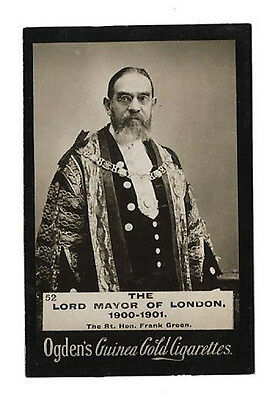 Ogdens - Guinea Gold - Card #52 - The Lord Mayor Of London, 1900/01 - Very Good