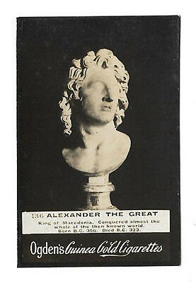 Ogdens - Guinea Gold - Card #136 - Alexander The Great - Very Good