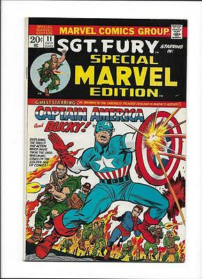 """Special Marvel Edition #11 [1973 Vg-Fn] Great Cover!  """"captain America &"""