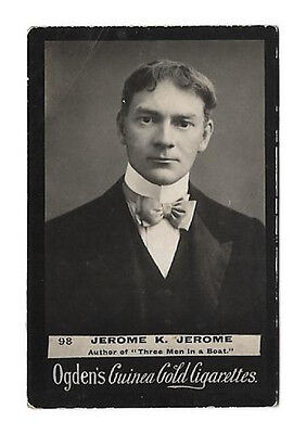 Ogdens - Guinea Gold - Card #98 - Jerome K. Jerome - Fair + To Good