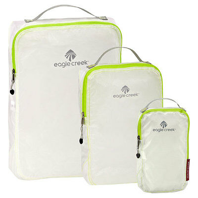 EAGLE CREEK TRANSLUCENT WHITE Specter Pack It CUBES 3 PIECE SET Light weight NEW