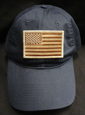 42926cf4091 Nike Golf Unstructured Navy Twill Dad Hat With Desert Storm American Flag  Patch