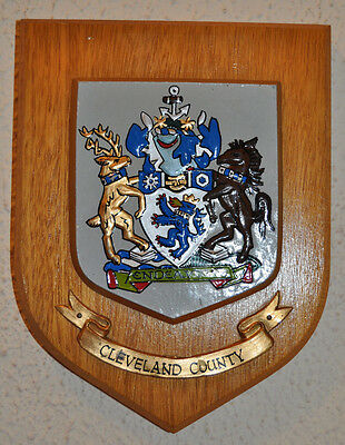 Cleveland County plaque shield crest coat of arms