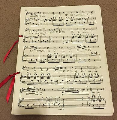 Phantom Of The Opera Prop Music Sheets Musical Broadway Note