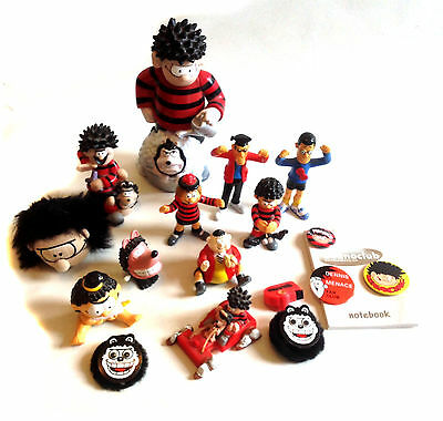 Large lot Of DC Thompson BEANO Comics Dennis the Menace toy items, figures etc