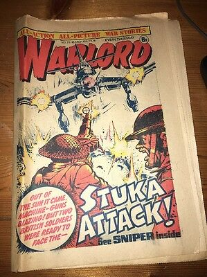 Warlord Comic #76 March 6th 1976 , 'Sniper' cover art