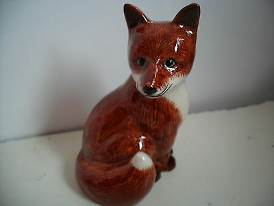 Lovely  Ceramiic FIgurine of a Fox By Quail Pottery Boxed