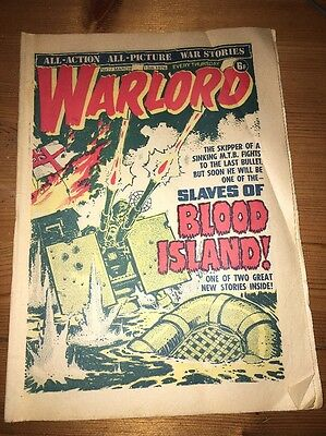 Warlord Comic #77 March 13th 1976 , 'Slaves of Blood Island' cover art