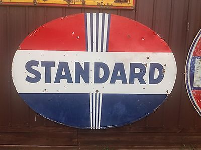ORIGINAL VIinTaGE PORCELAIN 7' DSP STANDARD SIGN Gas Oil Service Station Pole