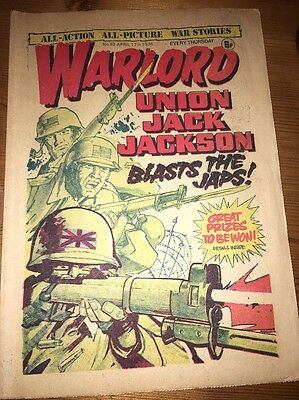 Warlord Comic #82 April 17th 1976 , 'Union Jack Jackson' cover art