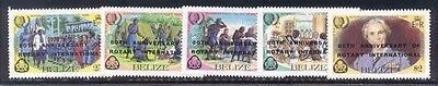 Rotary International Belize 80th Anniversary set NH Scouts