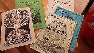 5 Pagan Mags, 1990's, The Wiccan, Web of Wyrd, Gates of Annwn, From the Flames