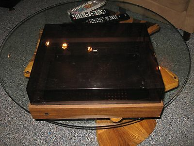 Vintage Dual Turntable Base and Dustcover-Fits Many Models