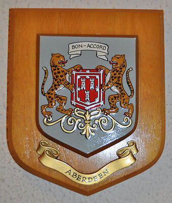 City of Aberdeen wall plaque shield crest coat of arms