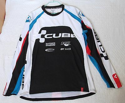Cube long sleeve cycling top, white and black, NWOT, size XXL