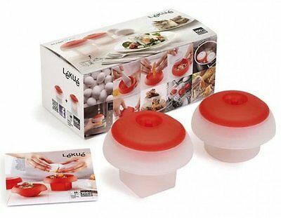 Lékué OVO Egg COOKING KIT Square & Cylindrical SILICONE MOULDS - Set of 2 Lekue