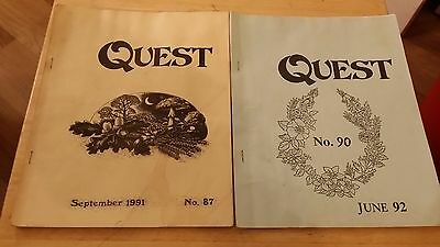 Quest, Pagan Magazine from September 1991 and June 1992,