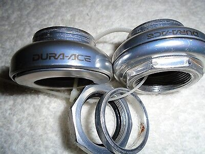 """Shimano Dura-Ace 1"""" Threaded Silver Headset Complete"""