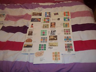 Reduced Again !!! 13 Gb First Days Covers With Booklet Panes.
