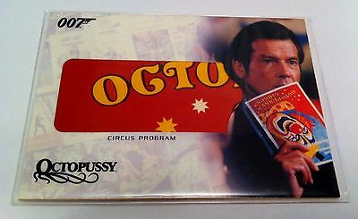 """Complete James Bond """"Circus Program"""" Relic Card #RC5 - """"Octopussy"""""""