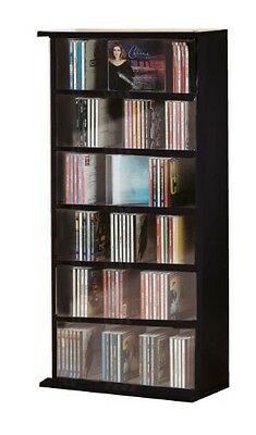 VCM CD/ DVD Vostan Tower without Glass, Black