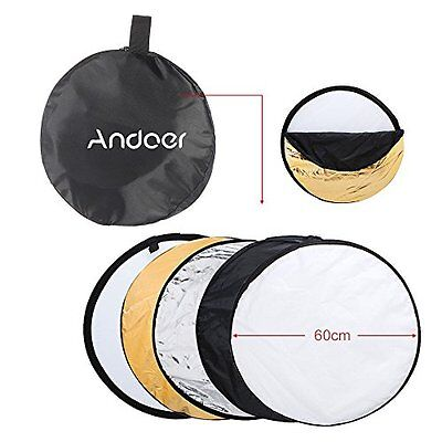 "Andoer® 24"" 60cm 5 in 1 Portable Photography Studio Multi Photo Disc Collapsible"