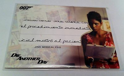 """Complete James Bond """"Jinx Medical File"""" Relic Card #RC11 - """"Die Another Day"""""""