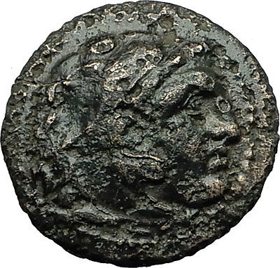 ALEXANDER III the GREAT Hercules Bow Club Authentic Ancient Greek Coin i59374