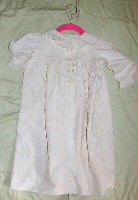 VINTAGE VICTORIAN BABY COAT summer weight ribbed cotton - INFANT SIZE