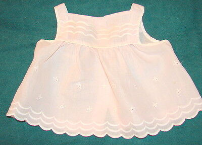 VINTAGE Infant's Summer Top - Light Peachy/Pink with White Embroidery